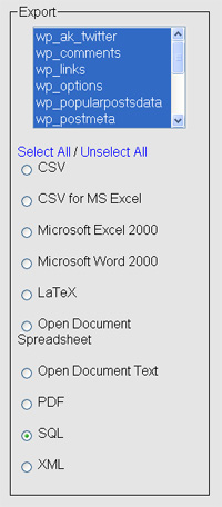 select-sql-option