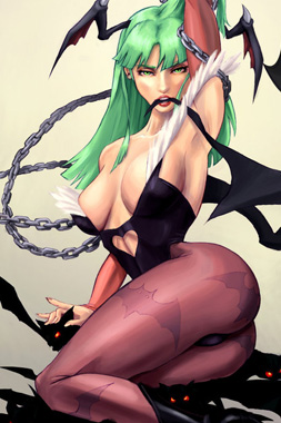 video-game-babe-morrigan-from-darkstalkers-1