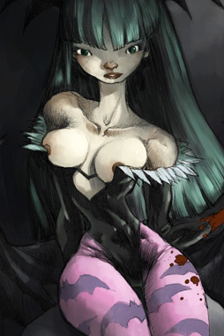 video-game-babe-morrigan-from-darkstalkers-5