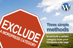 Exclude a category from your WordPress index page