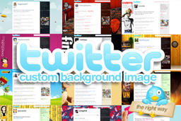 Create a custom twitter background the right way