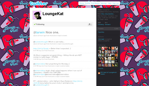 loungekat twitter background