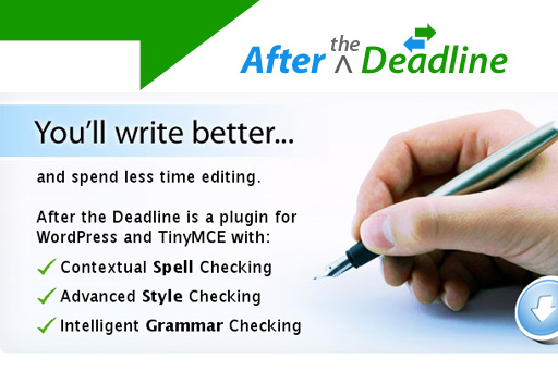 Open source grammar and spell checker – After The Deadline