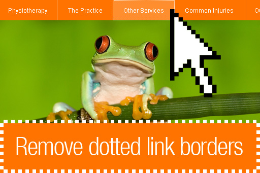 How to remove the dotted border from links