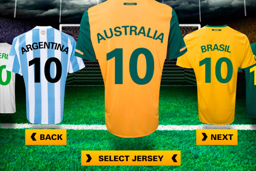 create your  own world cup jersey application