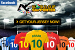 Create your own World Cup jersey on Facebook
