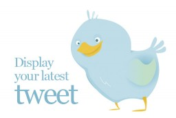 A simple way to display your latest tweet on your website