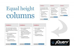 Equal height columns using jQuery