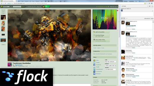 flock social browser