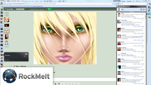 rockmelt social browser