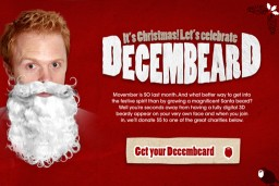 Grow your own Santa beard this Christmas with Decembeard!