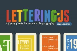 Style individual letters with jQuery plugin – Lettering.js
