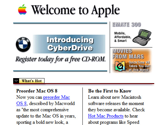 wayback machine apple 1997