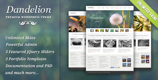 dandelion corporate wordpress theme