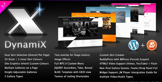 dynamix corporate wordpress theme