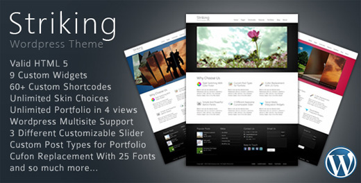 striking corporate wordpress theme