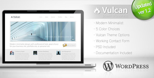 vulcan corporate wordpress theme