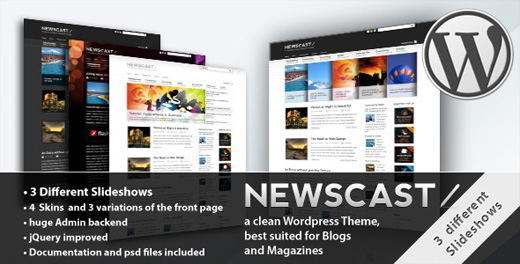 newscast magazine style wordpress theme