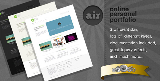air minimalist wordpress theme
