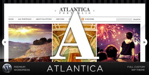 atlantica minimalist wordpress theme