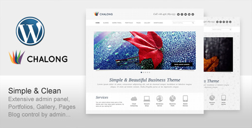 chalong minimalist wordpress theme