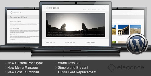 elegance minimalist wordpress theme