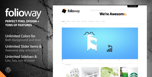 folioway minimalist wordpress theme