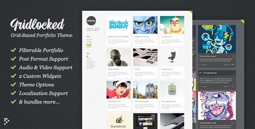 gridlocked minimalist wordpress theme