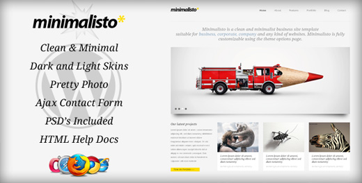 minimalisto minimalist-wordpress theme