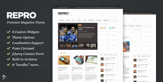 repro minimalist wordpress theme