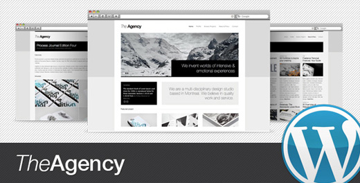 theagency minimalist wordpress theme