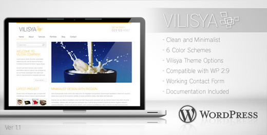 vilisya minimalist wordpress theme