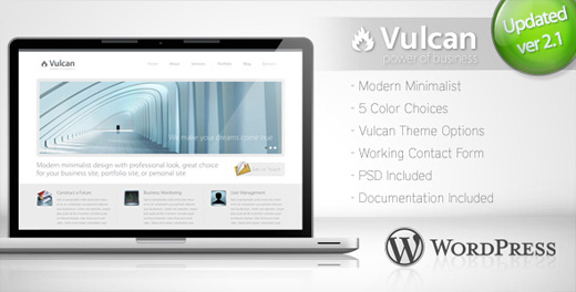 vulcan minimalist wordpress theme