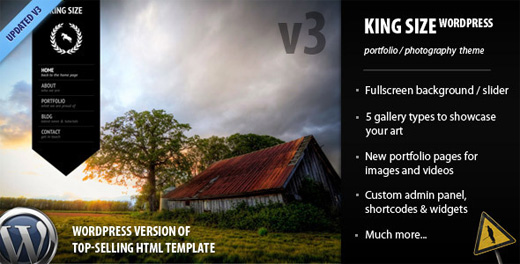 kingsize premium wordpress theme