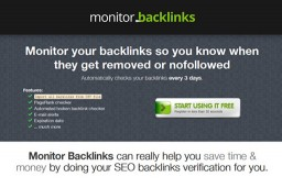 A Simple Backlink Monitoring Tool for Search Engine Marketers