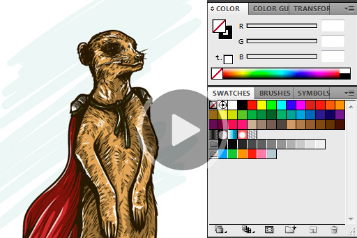 Vector Meerkat Video Tutorial & Freebie